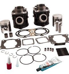cylinder piston gasket kit for yamaha banshee 350 87 06 top end 64 00mm x 54 00mm [ 1000 x 1000 Pixel ]