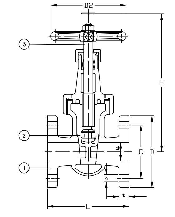JIS F7367 Marine Cast Iron Gate Valve