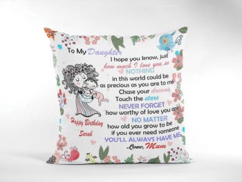 Baby Birth Cushion To Daughter Happy First Birthday Poem From Mum