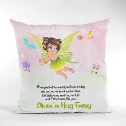 Green Flying Fairy Hug Cushion