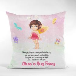 pink fairy hug cushion