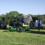 Wrapping the bale