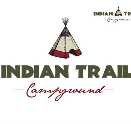 Campground Website Design  Indian Trail Logo