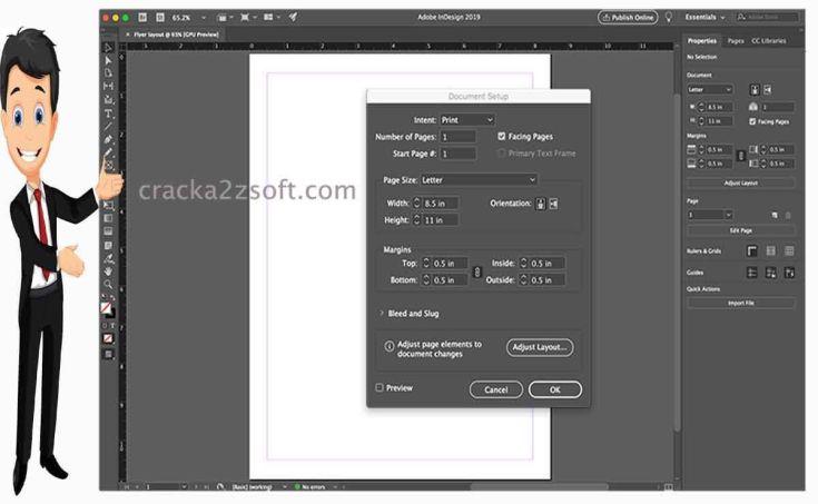 Adobe InDesign CC screen