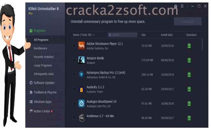 IObit Uninstaller Pro screen