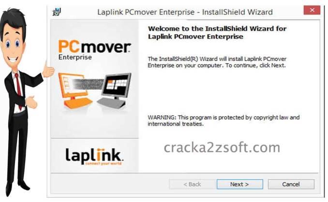 PCmover Enterprise screen