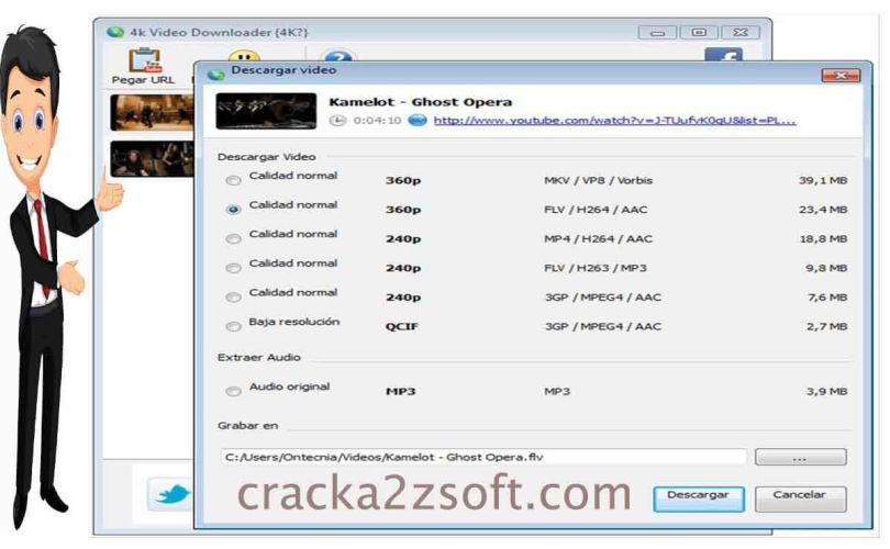4K Video Downloader screen
