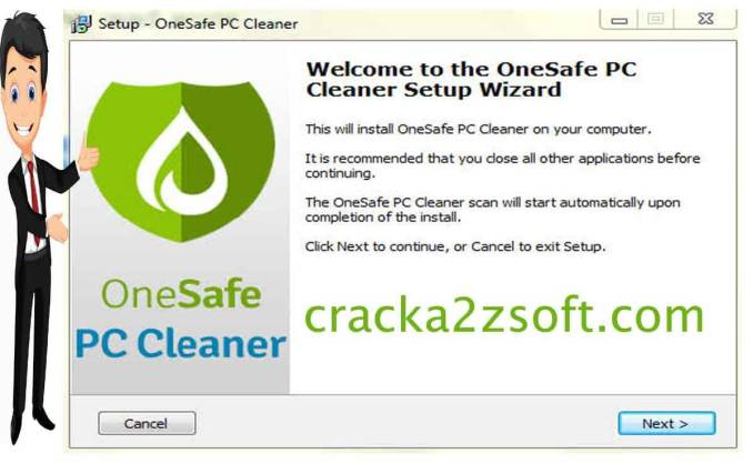 OneSafe PC Cleaner Pro crack screenshot