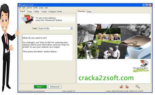 VueScan Pro activation key screen