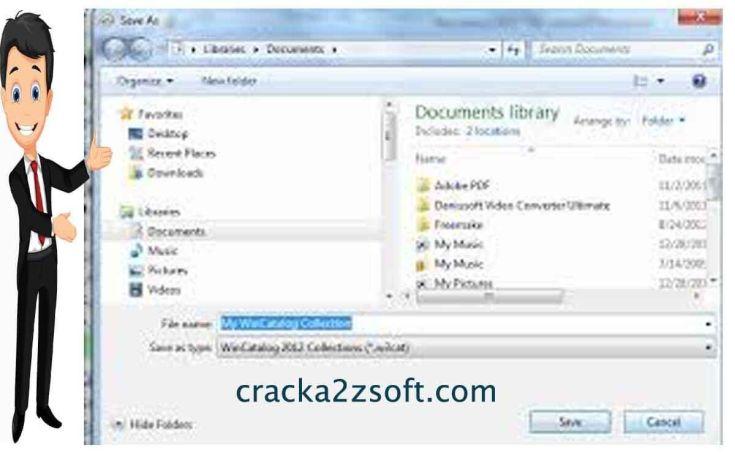WinCatalog Serial key screenshot