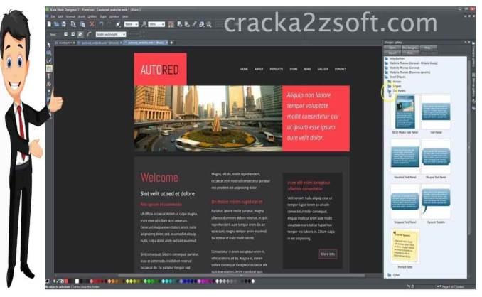 Xara Web Designer Premium screen