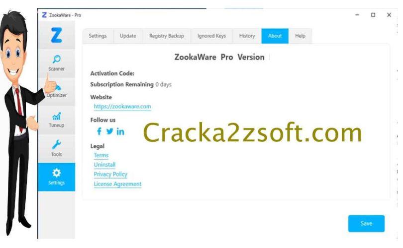 zookaware pro crack screenshot