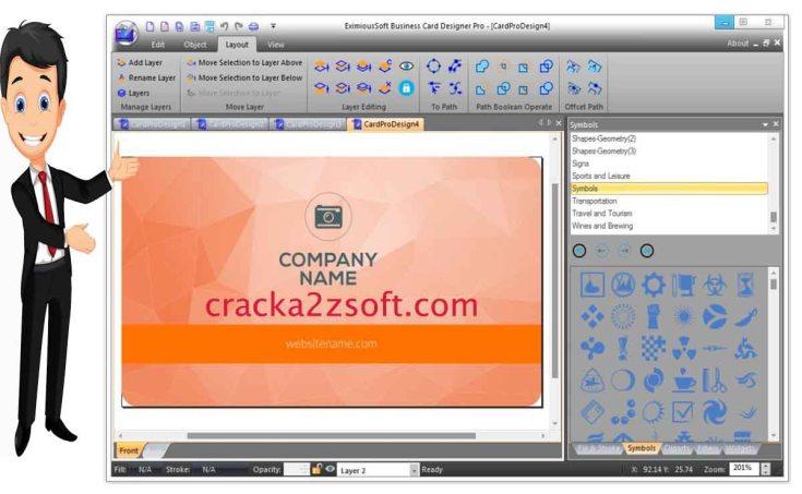 eximioussoft business card designer crack
