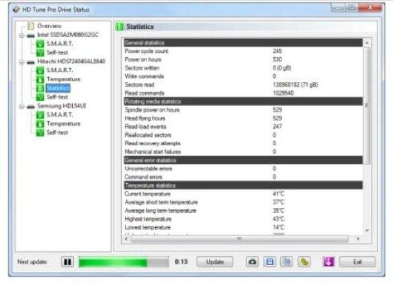 HD Tune Pro Crack screen