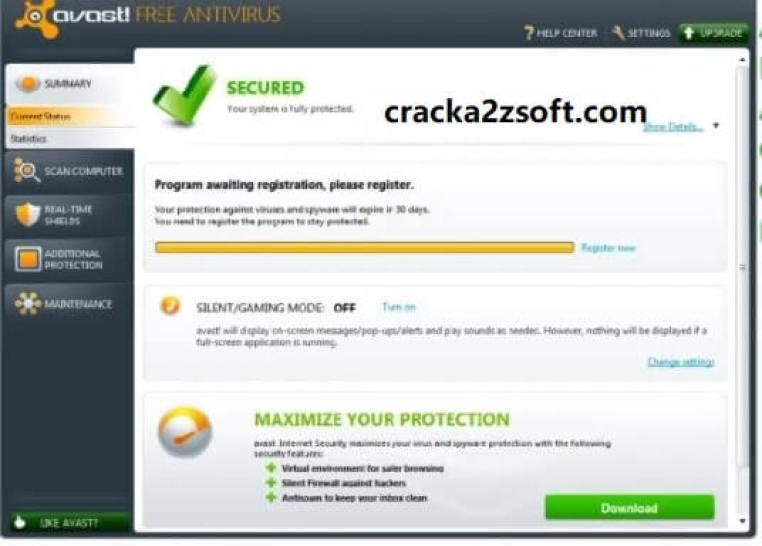 Avast Antivirus 2021 Activation Code screen