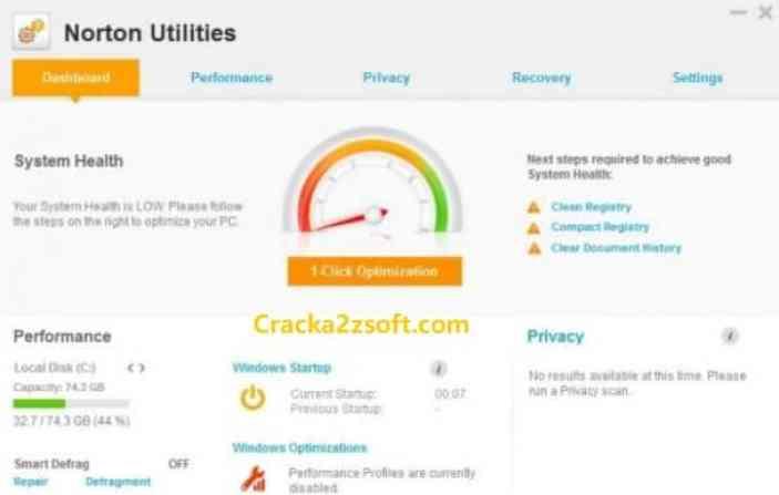 Norton Utilities Premium Crack screenshot
