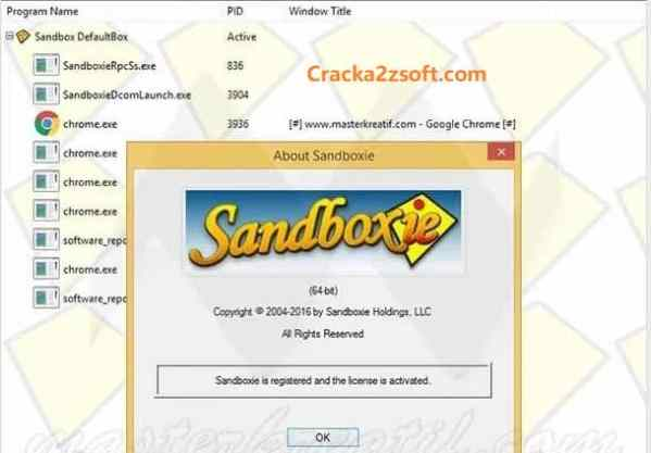 Sandboxie Crack 2021 screenshot