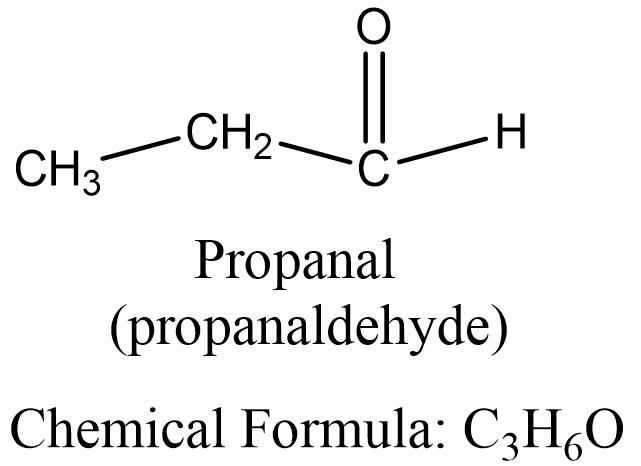 propanal structure, propionaldehyde