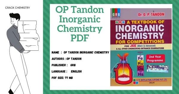 op tandon inorganic chemistry pdf, grb inorganic chemistry pdf