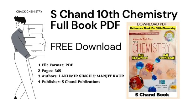 S Chand Class 10 Chemistry Full Book PDF