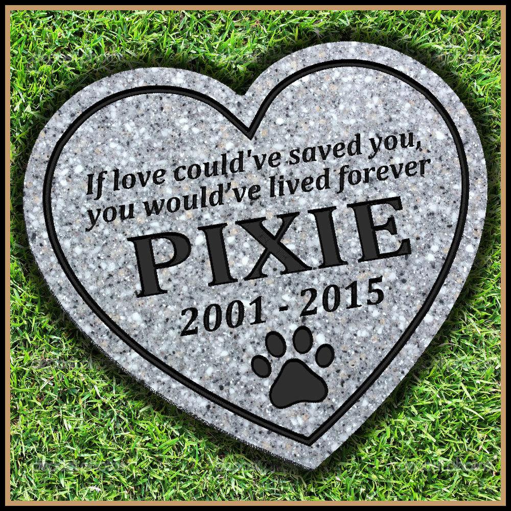 pet memorial grave marker