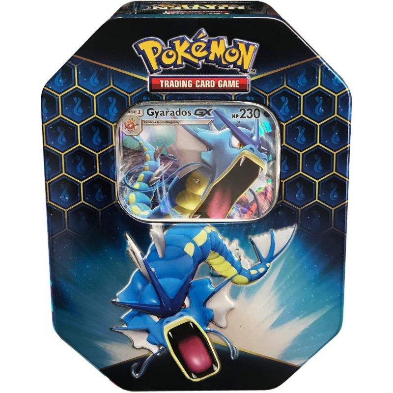 Find the card data on charmander from the hidden fates set of pokemon cards. Pokemon Hidden Fates Tin - Gyarados-GX