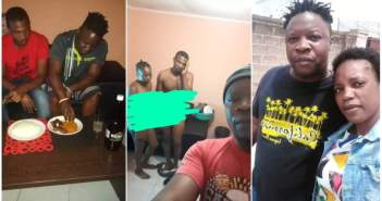 FEAR WOMEN !! Man takes selfie for his in-laws after he Caught his Bestfriend Ch0pping his Wife (See Photos)