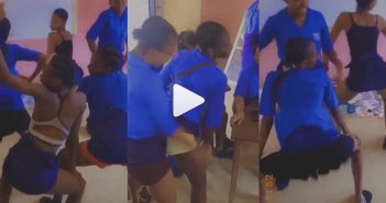Wild Video Of SHS Students Tw3.rk!ng In Class After Their Teachers Decided to go On Str!ke [Watch Video]