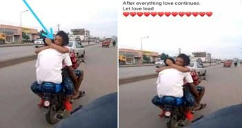 couple enjoying themselves on okada