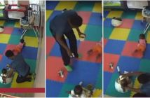 Caregiver-caught-on-camera-killing-11-month-old-baby-with-feeding