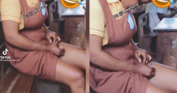 """Female Student C@ught Writing """"Apor"""" On Her Thighs Ahead Of An Examination"""