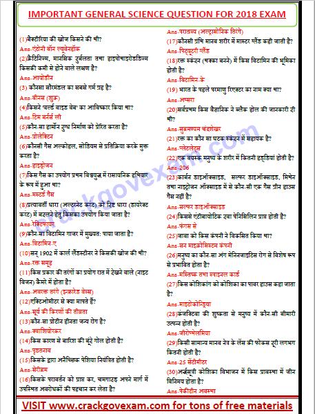 Gk Question In Hindi Pdf