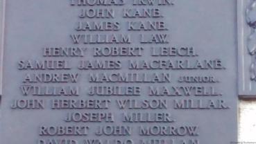 Cracking REtirement - Portrush War Memorial Henry Leech