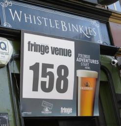 Cracking Retirement Edinburgh Festival Venue Sign