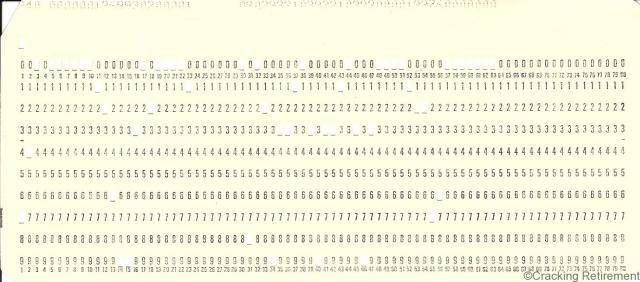 Cracking retirement computer punch card