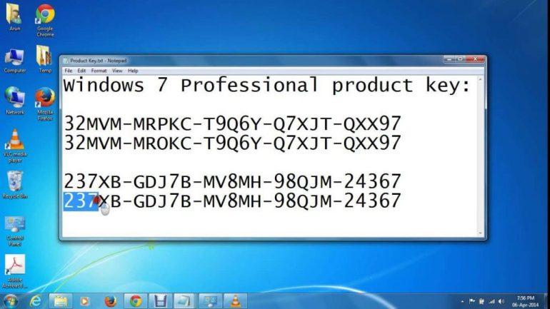windows 7 upgrade key generator