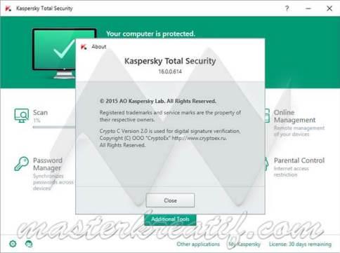 Kaspersky Total Security 2017 Lifetime License Key