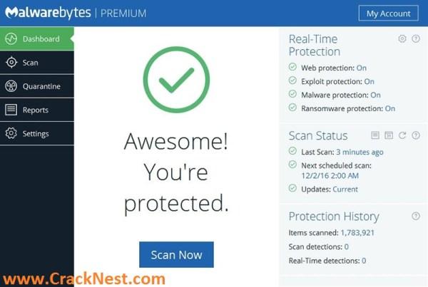 Malwarebytes Premium 3.3.1 Crack