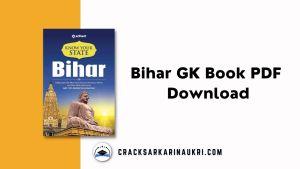 Bihar GK Book PDF Download