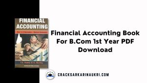 Financial Accounting Book For B.Com 1st Year PDF Download