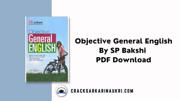 Objective General English By SP Bakshi PDF Free Download