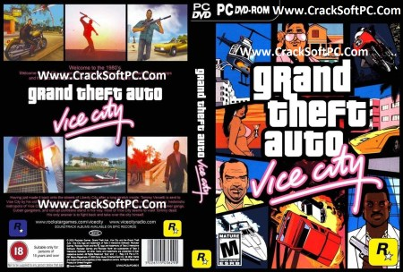 GTA Vice City Game Free For PC-Download-Cover-CrackSoftPC