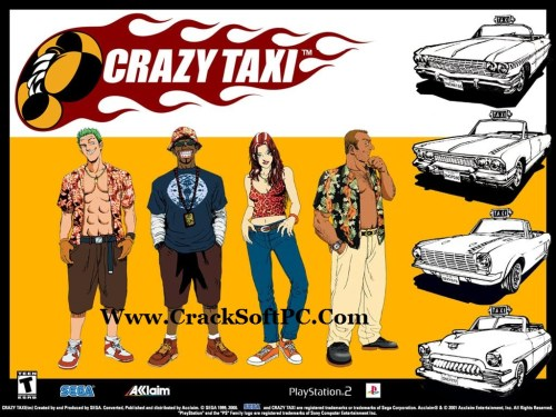 Crazy Taxi Download PC Game Free-Cover-CrackSoftPC