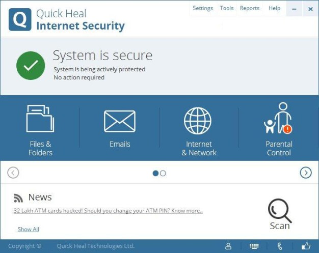 Quick Heal Internet Security windows