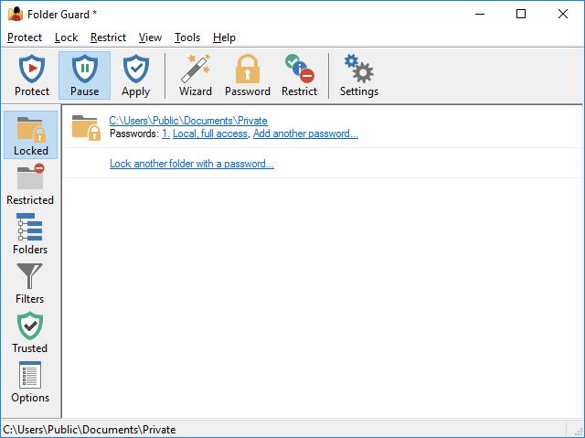 FolderGuard Windows