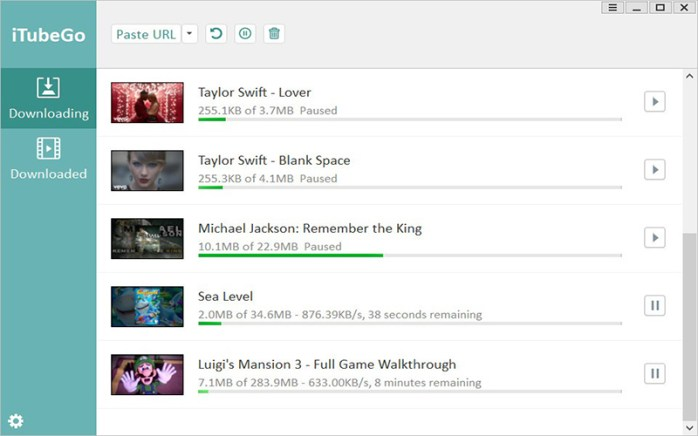 iTubeGo YouTube Downloader Windows