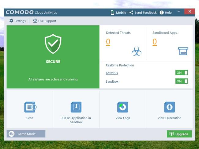 Comodo Cloud Antivirus windows