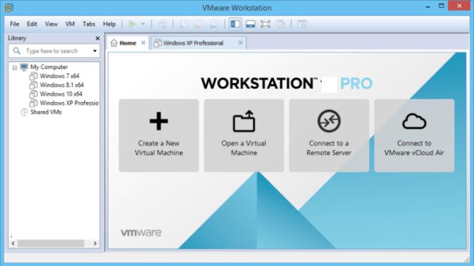 VMware Workstation Pro windows