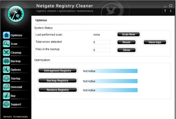 NETGATE Registry Cleaner latest version