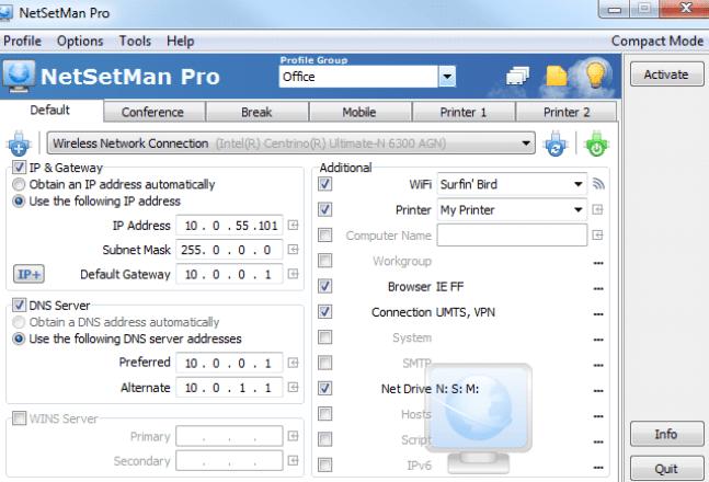 NetSetMan windows